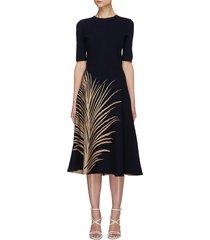 feather print dress