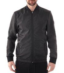 boss zip through sweatshirt |open grey| 50419366-061