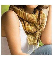 silk batik scarf, 'mae nam khong honey' (thailand)