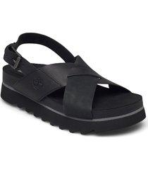 santa monica sunrise crossband shoes summer shoes flat sandals svart timberland