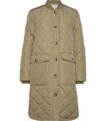 sreileen ls quilt coat gevoerde lange jas groen soft rebels