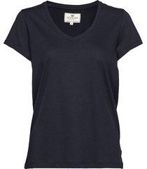 becka v-neck tee t-shirts & tops short-sleeved blå lexington clothing