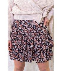 limited bloemen laagjes rok