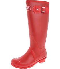 botas de lluvia altas wellington bottplie - rojo retro matte