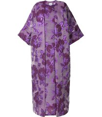 bambah isabella floral print kaftan and dress - purple