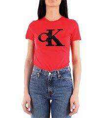 calvin klein j20j212919 t-shirt women red