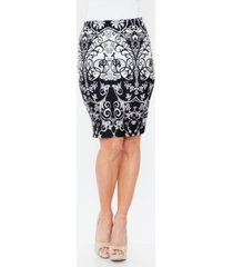 white mark pretty and proper pencil skirt