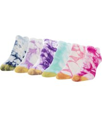 gold toe women's tie-dye 6pk liner socks