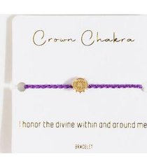 crown chakra bracelet - purple