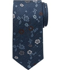 joseph abboud blue floral narrow tie