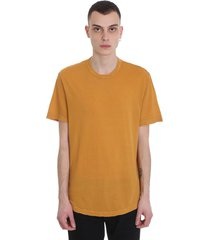 james perse t-shirt in yellow cotton