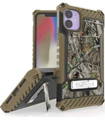 estuche protector tri shield iphone 11 pro max 6.5 - camuflado verde