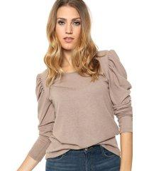 sweater beige destino collection frunce lanilla