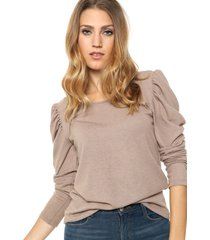 sweater beige destino collection frunce lanilla