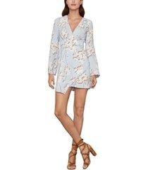 bcbgmaxazria floral-print faux-wrap mini dress