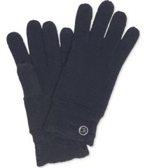 calvin klein chain-cable knit tech gloves