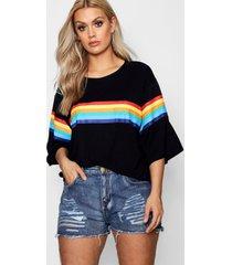 plus rainbow print t-shirt, black
