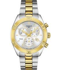 women's tissot pr 100 classic chronograph bracelet watch, 38mm