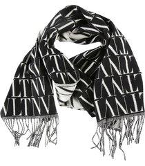 valentino all-over vltn logo scarf