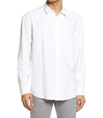 men's bp. solid button-up shirt, size large - white