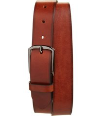 men's big & tall nordstrom men's shop jones leather belt, size 46 - cognac
