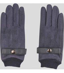 guantes touch gamuza men gris baziani