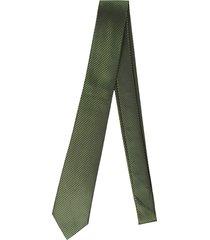 gravata alfaiataria burguesia jacquard 1260 fios verde - kanui
