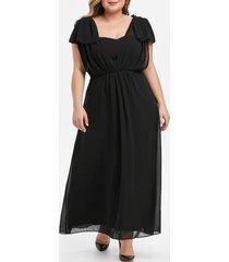 plus size high waist maxi party dress