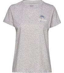 regular crew neck te t-shirts & tops short-sleeved grå lee jeans