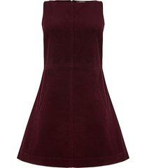 corduroy jurk met v-hals