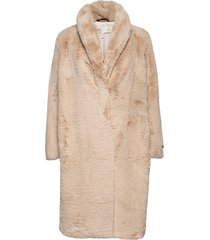 zantaiw coat outerwear faux fur beige inwear