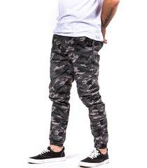 pantalon cargo camo gris gangster