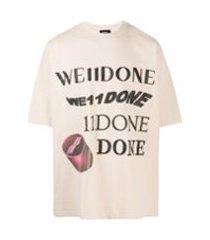 we11done camiseta com estampa de logo - neutro