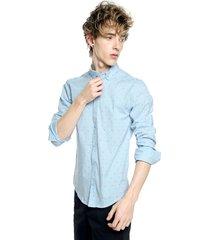 camisa azul-multicolor fiveblu