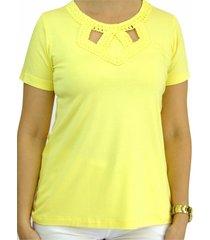 blusa pau a pique básica amarelo