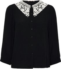 srjudith 3/4 shirt blouse lange mouwen zwart soft rebels