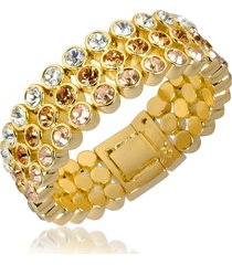 az collection designer bracelets, three-tone crystal bracelet