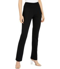 inc petite ruched-waist pull-on pants, created for macy's