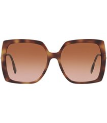 burberry burberry be4332 light havana sunglasses