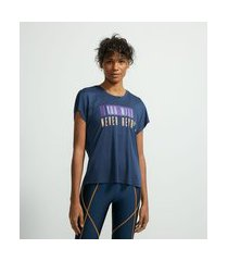 camiseta esportiva em viscose sem cava estampa frase | get over | azul | gg