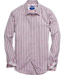 egara black & pink check sport shirt