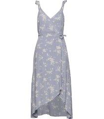 cami wrap midi jurk knielengte abercrombie & fitch