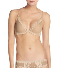 women's natori feathers underwire contour bra, size 36a - beige