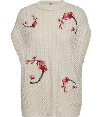 yasvanilla embroidery gilet s. - ca blouses short-sleeved beige yas