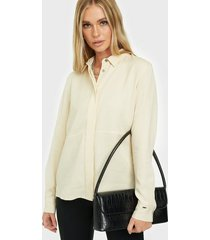 calvin klein ls tencel side split shirt skjortor