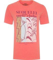 t-shirt masculina tinturada sequelei - laranja