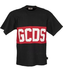 gcds band logo tee black t-shirt