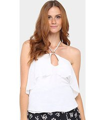 blusa maria filó decote argola feminina - feminino