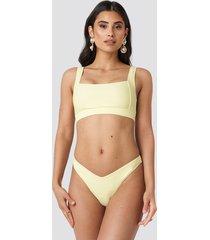 na-kd swimwear v-shape front bikini bottom - yellow