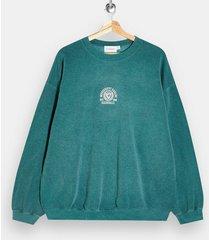 mens green eagles print sweatshirt